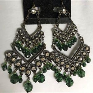 Vintage Prague Gypsy Chandelier Earrings.